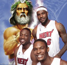 Zeau and Miami Heat Big Three