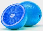 Electric-blue oranges